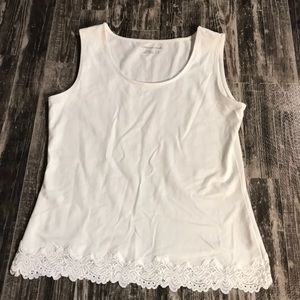 Coldwater Creek White Tank Top